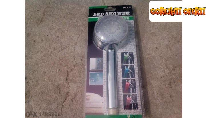 Светеща душ слушалка LED снимка #0