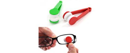 Компактен уред за почистване на стъклата на вашите очила