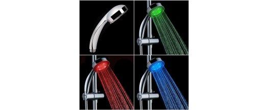 RGB LED душ слушалка