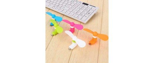 USB вентилатор за смартфон снимка #1