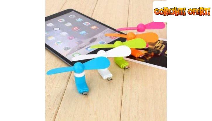 USB вентилатор за смартфон снимка #2