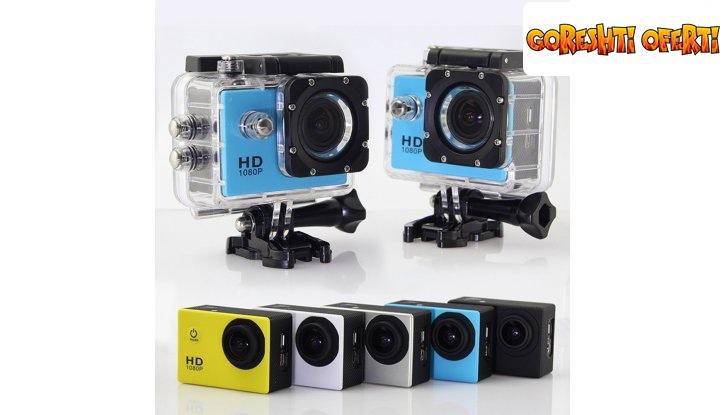 Водоустойчива екшън камера FULL HD 1080p снимка #0