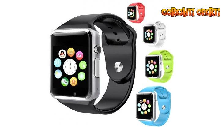 Стилен Смарт часовник със слот за SIM карта и BLUETOOTH снимка #0