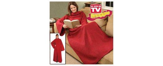 Одеяло с ръкави Snuggie - топла прегръдка през студените зимни месеци снимка #1