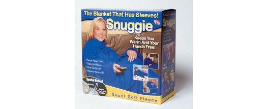 Одеяло с ръкави Snuggie - топла прегръдка през студените зимни месеци снимка #2