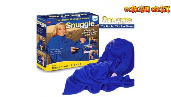 Одеяло с ръкави Snuggie - топла прегръдка през студените зимни месеци снимка #0
