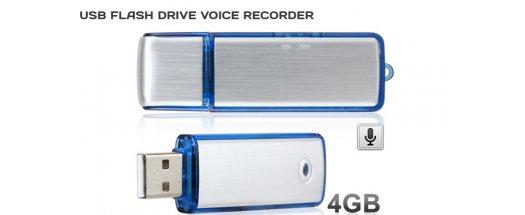 USB флаш памет 4GB и гласов рекордер в едно снимка #0