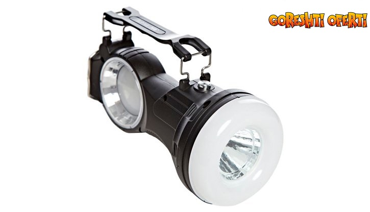 Соларен LED фенер с лампа и акумулаторна батерия снимка #0