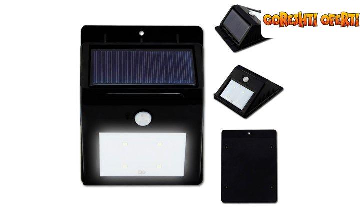 Соларна LED лампа с датчик за движение снимка #1
