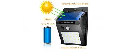 Соларна LED лампа с датчик за движение снимка #2