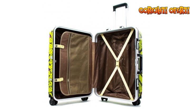 Комплект ХАЙ-ТЕК 2 броя куфари ALU-CARBO 025, алуминиеви спинъри с карбонови панели снимка #3