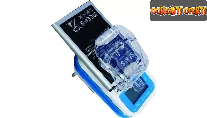 Универсално зарядно за батерии с LED дисплей и USB порт снимка #0