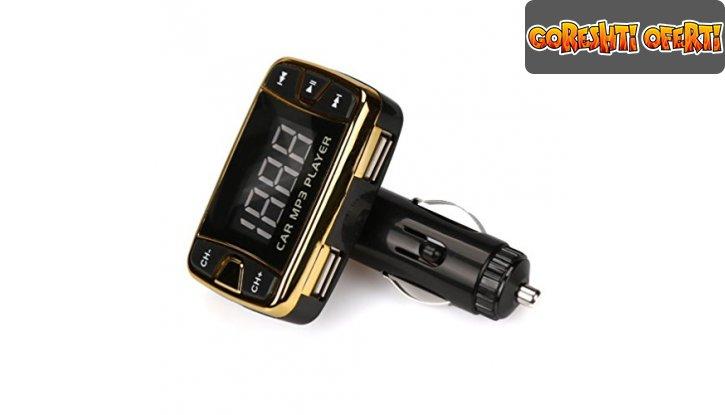 FM трансмитер за кола с bluetooth и 2 USB порта снимка #0