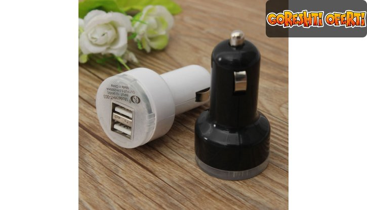 Двоен USB Разклонител за кола снимка #0