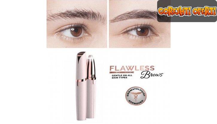 Дамски тример за оформяне на вежди Flawless Eyebrows снимка #1