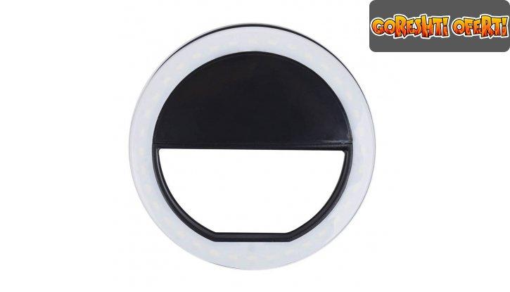 Светещ пръстен за селфита Selfie Ring Light снимка #5