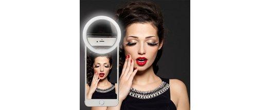Светещ пръстен за селфита Selfie Ring Light снимка #1