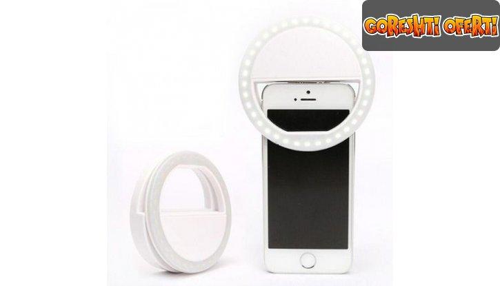 Светещ пръстен за селфита Selfie Ring Light снимка #2