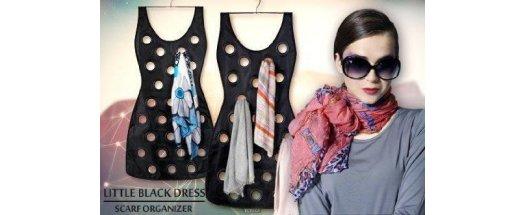 Органайзер - рокля за шалове Black Dress Scarf Organizer снимка #0
