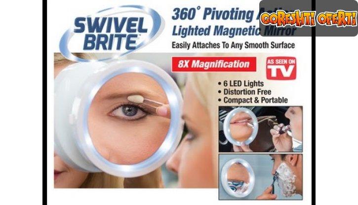 Увеличително LED огледало Swivel Brite снимка #0