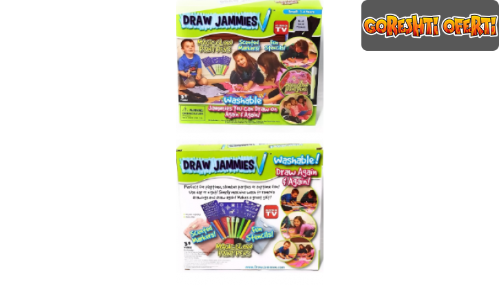 Маркери за Рисуване върху Дрехи Draw Jammies снимка #1