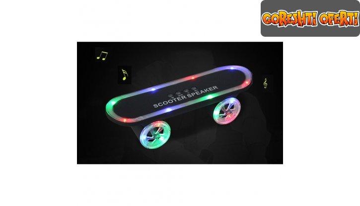 Колонка скейтборд Bluetooth scooter speaker снимка #0