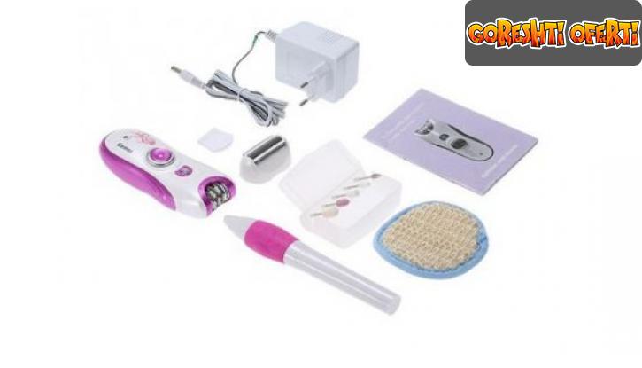 Професионален комплект епилатор и електрическа пила за нокти Kemei  снимка #2