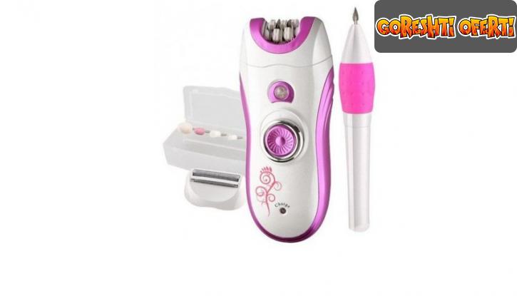 Професионален комплект епилатор и електрическа пила за нокти Kemei  снимка #1
