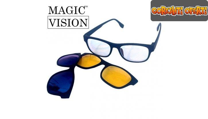 Магнитни очила 3 в 1 Magic Vision снимка #0