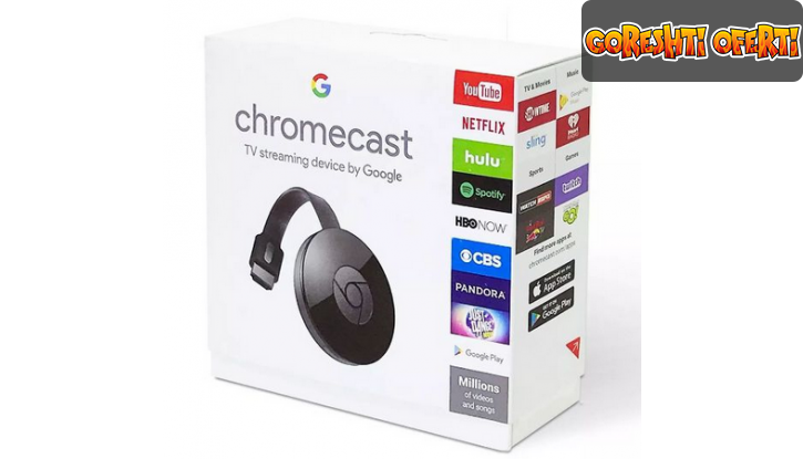 Google Chromecast HDMI Streaming Media Player снимка #0