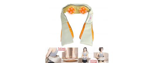 Масажор за врат, рамене и гръб с шест функции снимка #6
