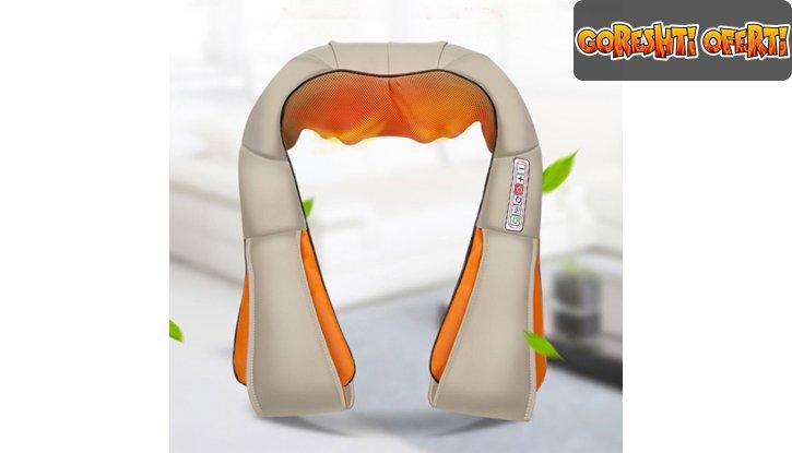 Масажор за врат, рамене и гръб с шест функции снимка #0