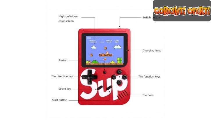SUP GAME BOX Преносима конзола с 400 игри + ПОДАРЪК слушалки BEATS снимка #2