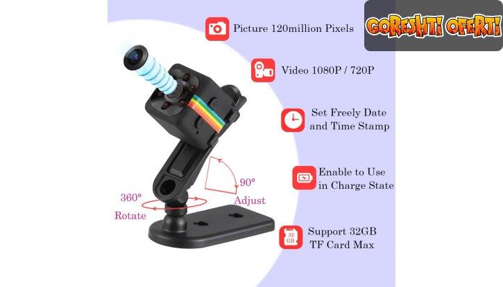 Мини камера със сензор за движение 12MP Mini Full HD Camera снимка #5