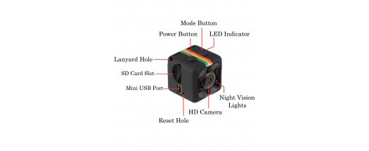 Мини камера със сензор за движение 12MP Mini Full HD Camera снимка #4