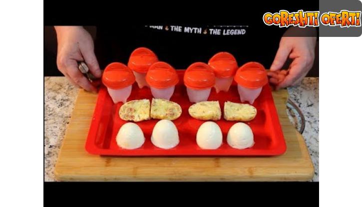 Силиконови чаши за варене на яйца без черупката  снимка #1