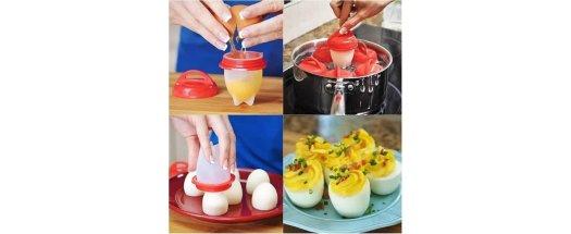 Силиконови чаши за варене на яйца без черупката  снимка #2