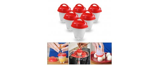 Силиконови чаши за варене на яйца без черупката  снимка #3