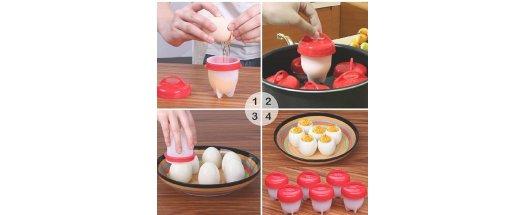 Силиконови чаши за варене на яйца без черупката  снимка #4