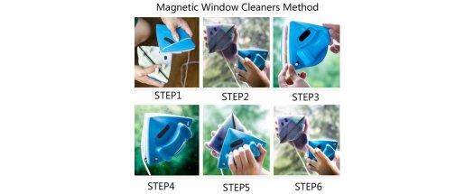 Магнитен смарт уред за прозорци до 30мм с ПОДАРЪК още една четка за 12мм снимка #5